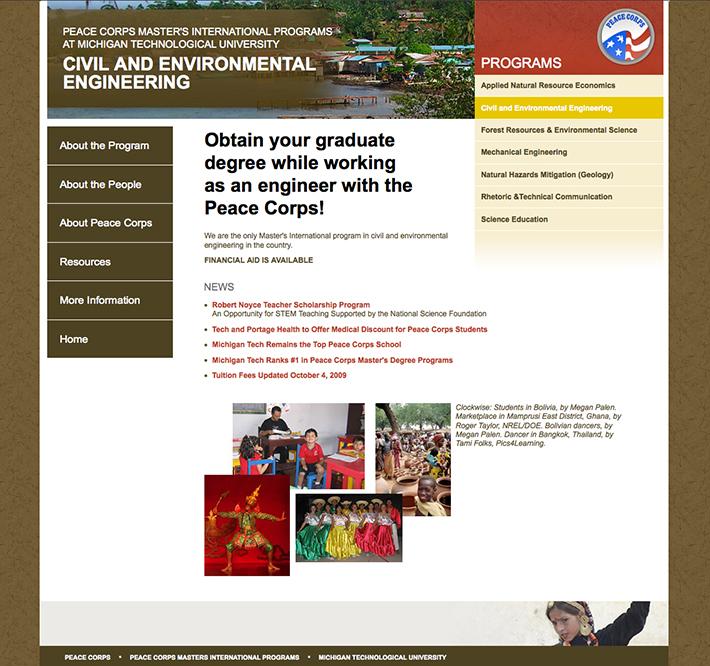 Michigan Tech Peace Corps Master's International Program