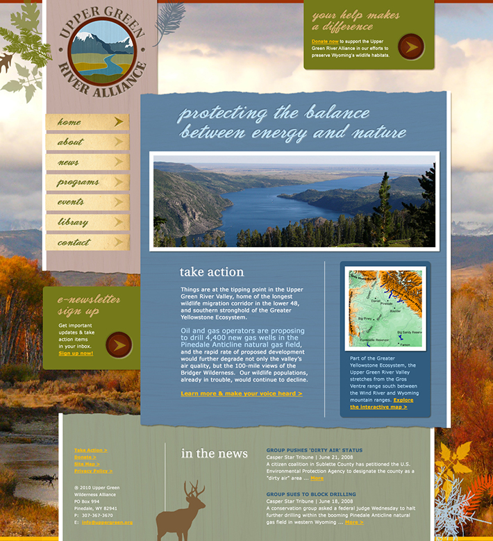 Upper Green River Alliance Website